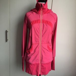 Lululemon Hot Pink Full Zip Hoodie Jacket Size 6